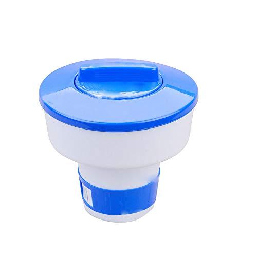 Automatische Medikamenten-dispenser (Ndier Chlor-Zufuhr Schwimmdock Chlortabletten Dispenser Pool Desinfektion Automatische Applikator Wasser-Pille-Kasten 8inch 1PC Schwimmdock)