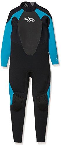 BILLABONG 403 Launch Wetsuit, Mujer, Negro/Turquesa, 10
