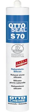 OttoSeal S70, dass Premium-Naturstein-Silicon, 310ml Farbe: C00 TRANSPARENT