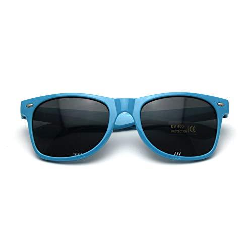 0ad39eb14d2 femmes anti UV Lunettes lentille oculaire lunettes de soleil(Bleu clair)