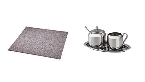 Xavax Anti-Vibrationsmatte für Waschmaschinen und Trockner (60 x 60 cm, Gummimatte, dämpft Vibrationen und Schall, AKTION Xavax Milch- und Zucker-Set aus Edelstahl, 3-teilig