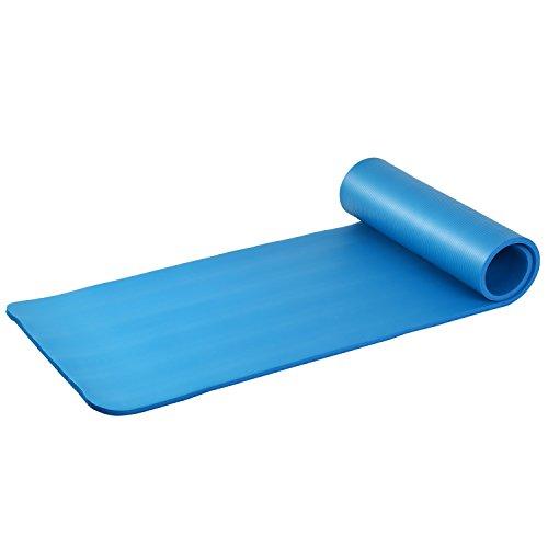 Asvert Fitnessmatte Gymnastikmatte dicke und weich rutschfeste Yogamatte, die gedämpfte Matte für Yoga, Training, Pilates Sit Ups und Stretching 183 * 61 * 1.5cm