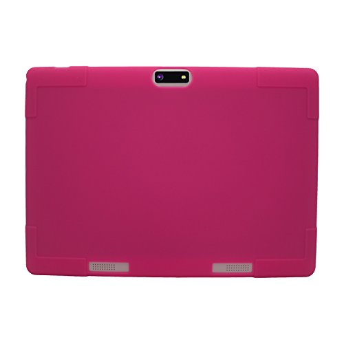 """Transwon Silikon Hülle für ACEPAD A96 10 Zoll (9.6""""), Kivors 9.6 Zoll 3G Tablet PC, YUNTAB Tablet PC K98 9.6 Zoll, XIDO Z90 9.6, QIMAOO 9.6 Zoll 3G Tablet PC, Bovake 9.6, Auntwhale 9.7 Zoll, Fengxiang 9.7 - Rose"""