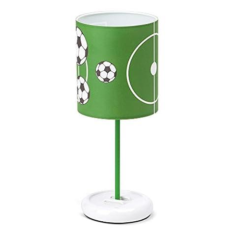 Lampe de table LED Soccer, abat-jour avec motif football, H: 32cm, Ø 12cm, 0.72W LED intégré, plastique/métal, vert