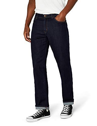Wrangler Texas Darkstone Herren Jeans, Blau (Darkstone 009), W36/L34, W12105009 -