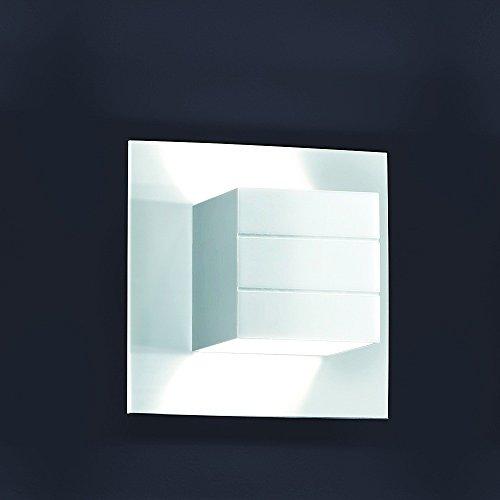 Helestra Liva–Wandlampe mit 1Glühbirne, aus Aluminium, Farbe: weiß