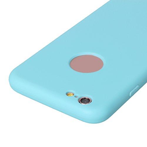 Coque iPhone 6S Plus 360 Degres Protector, Coque iPhone 6 Plus Hybride Case, Moon mood® Housse en Plastique PC Rigide + Souple TPU Bumper Arrière Étui pour Apple iPhone 6S Plus Silicone Coque de Prote Bleu