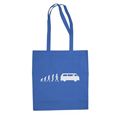 Bulli T3 Evolution - Stofftasche / Beutel, Farbe: blau