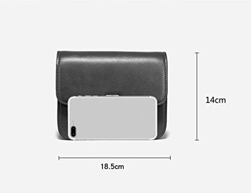 ZCJB Kleine Umhängetasche Mini Handy Wallet Travel Geldbörse Umhängetasche Nachricht Tasche ( Farbe : Aprikose ) Schwarz