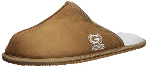 FOCO Green Bay Packers Mens High End Open Back Slide Slipper Extra Large