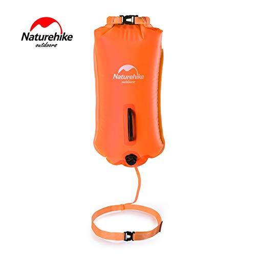Sairis Naturehike Bolsas inflables Impermeables de Tres Capas Snorkel Swing Rafting Bolsas de Agua para Playa Equipos de Swing al Aire Libre-Naranja Fluorescente