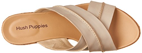 Hush Puppies Women's Belinda Durante Platform Sandal, Dark Orange Leather, 10 M US Off-White Leather