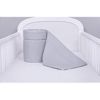 Ami Lian Bed Nest Head Protection Bumper 420x30cm 360X30CM 180x30cm Cot Bumper Cot Bumper Bed Single Colour: Grey