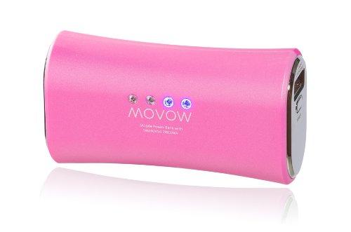 movow-Power Bank/Batteria/batteria esterna (USB, 5V/1a Output) con pietre Swarovski pink