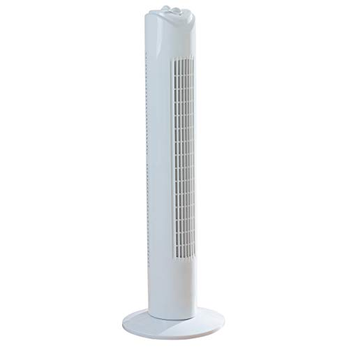 Fine Elements COL1258 32-Inch Tower Slim, 3 Speed Settings, 2 Hour Timer, Portable Floor Fan, Wind Rotor-White, One Size