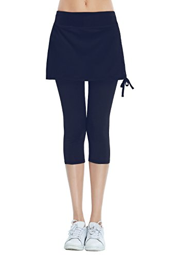 HonourSport Caprihose Leggings Hose mit Rock 2 in 1 Capri 3/4