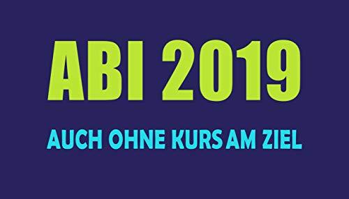 jilda-tex Abistrandtuch Abihandtuch 90x180 cm Auch ohne Kurs am Ziel - blau Abi 2019 (Handtücher Ziel)