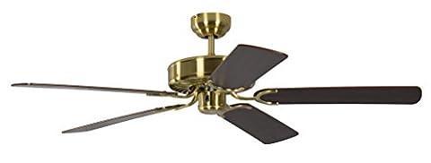 Pepeo ceiling fan Potkuri brass silk matte, blades mahogany, 13332010132