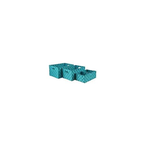 AC-Déco Aufbewahrungsboxen-Blau Türkis-Lot de 4Aufbewahrungskörben