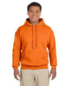 Gildan Heavyweight DryBlend Unisex Kapuzenpullover / Hoodie / Kapuzensweater M,Sicherheitsorange