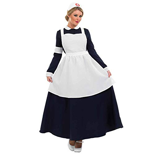 Nightingale Florence Kostüm - Fun Shack FN3283M Kostüm, Victorian Nurse, Women: 12-14