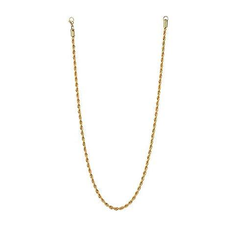 Herren Gold Halskette - Edelstahl 18K vergoldet Kette 70cm von Vcmart