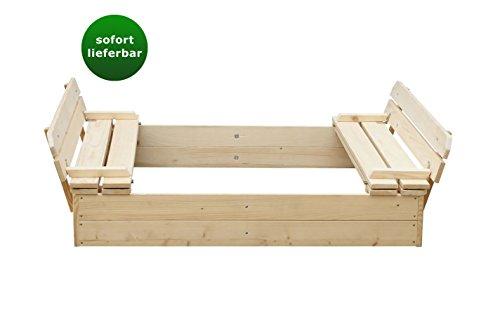 Preisvergleich Produktbild Blockbohlen Sandkasten Willi - H31xL118xB118