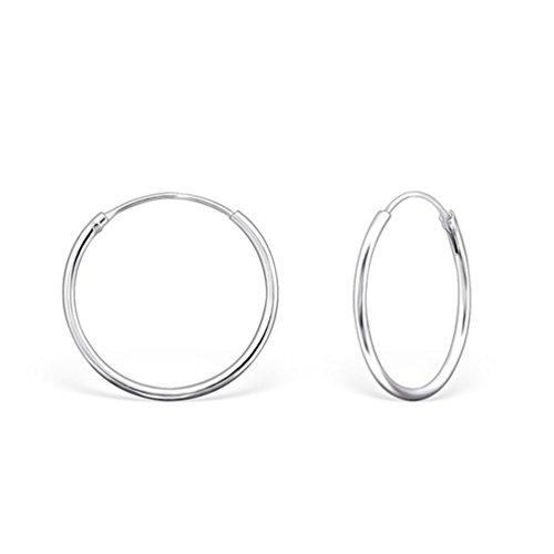 DTP Silver - Pendientes Aro mujer - Plata 925 - Espesor