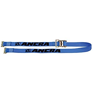 Ancra 48672-15 Ratchet with Spring Actuated E-Fittings, 2-Inch by 20-Feet, Blue Webbing