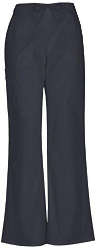 Smart Classic Drawstring Cargo Scrub Pant (S, Black) (Uniform Hose Shirt)