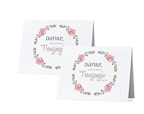 Great Stuff Doppelpack Karten - Danke, DASS Du Meine Trauzeugin warst! - Vintage Idee Hochzeit Dankeschön Schwester Beste Freundin Maid of Honor Geschenk