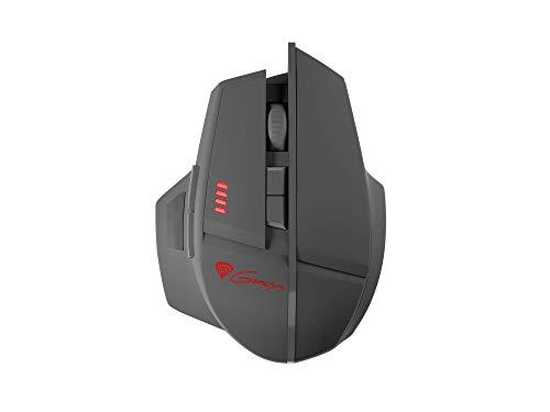 Natec Genesis GX58 - Ratón (Mano Derecha, Óptico, USB, 4000 dpi, 8500 pps, Negro, Rojo)