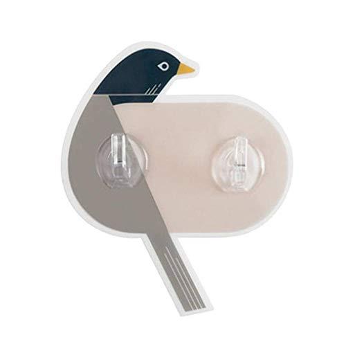 LFIWN Kleiderbügel 1 stück Cartoon Vogel Haken Adhesive Wall Keine Bohrhaken Kleiderbügel für Schlafzimmer Küche Bad -