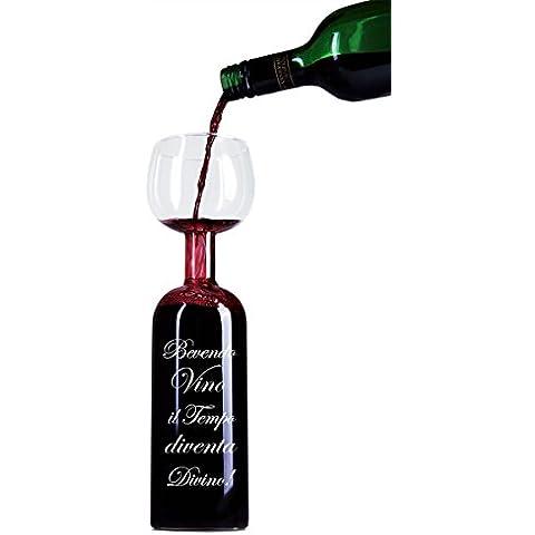 Novità Bottiglia Bicchiere di Vino con divertenti iscrizioni da Blu Devil (Italiano)