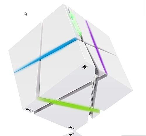 Hbnmv altoparlante portatile senza fili dell'altoparlante del cubo stereo dell'altoparlante portatile dell'altoparlante del bluetooth