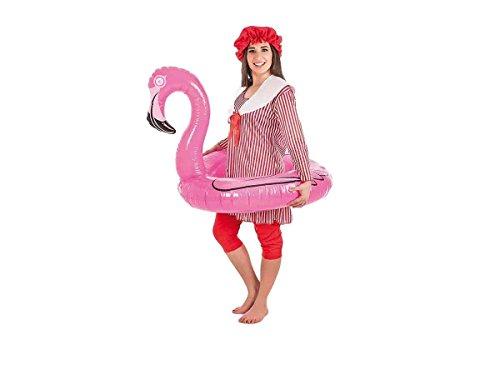 Creaciones Llopis- Disfraz Adulto bañista Mujer, Multicolor (4851-M)