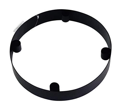 LaLe Living Ring-Kerzenständer - Onyx - aus Eisen in mattem Schwarz matt, Ø25x4 cm, geeignet für 4 Stabkerzen als scandic Kerzenhalter in allen Räumen oder als moderner Adventskranz Weihnachtsdeko