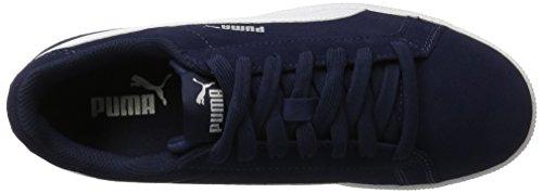 Puma Smash Funsd Jr, Sneakers Basses Mixte Enfant Bleu (Peacoat-white)