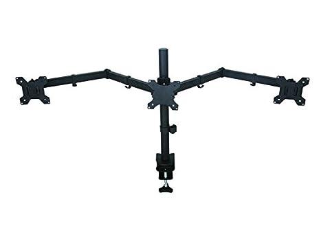 AM23T Fully Adjustable Triple Arm LED LCD Desk Mount Bracket