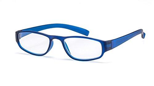 Extrem leichte Filtral Lesebrille in der Trendfarbe Blau | Moderne eckige Lesehilfe für Damen & Herren | +1,00 dpt F4522033