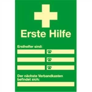 Affichage de sécurité: Secouristes Répertoire à même étiquette Highlight PVC 30x 20,0cm Luminance: Highlight 48mcd/M²