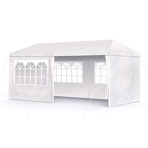 Boudech tenda/gazebo per feste 3x6 impermeabile bianco tendone per fiere e mercati *3x6 per feste*