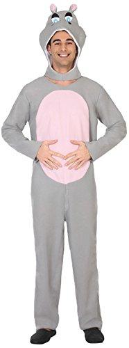 ATOSA 38870 Nilpferd Kostüm, Herren, mehrfarbig, M-L (Nilpferd Kostüm Erwachsene Für)