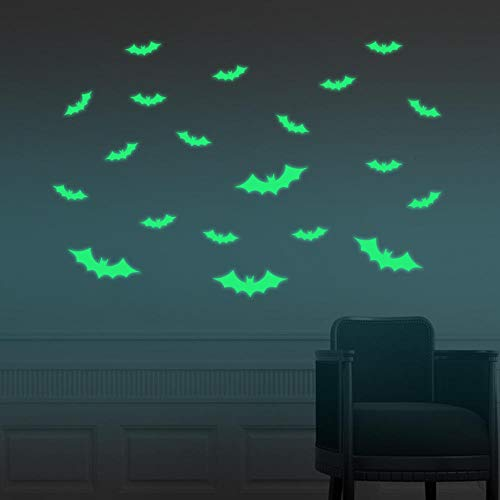 Leuchtende Ideen Shiny Stickers Halloween Fledermäuse Maske Aufkleber Hexen