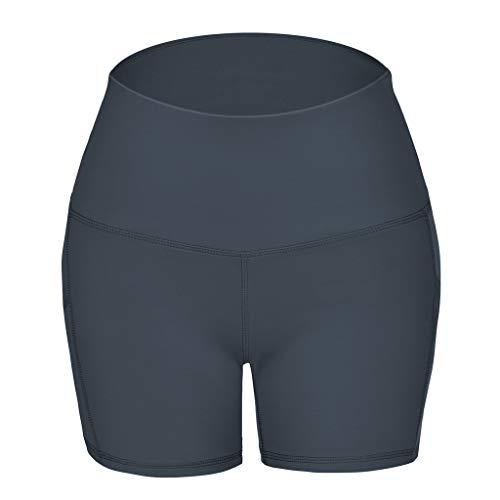 Damen Freizeithose Mode Hosen Hosen,Leggings Shorts Yoga-Hose mit hoher Taille Schlanke einfarbige Shorts Sport Shorts Leggings Hosen - Twill Womens Cargo Pocket Hosen
