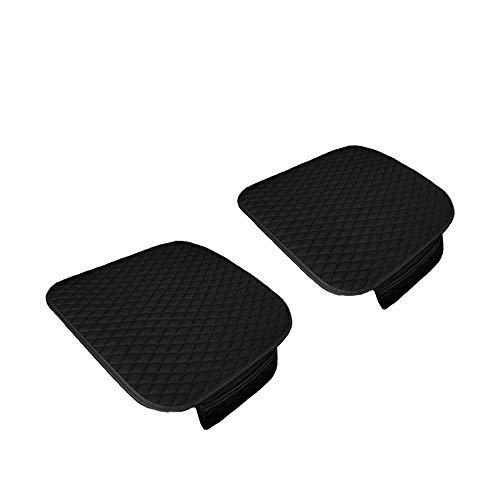 Walking Tiger Coprisedili per auto Accessori auto 2 pezzi Pelle sintetica nera