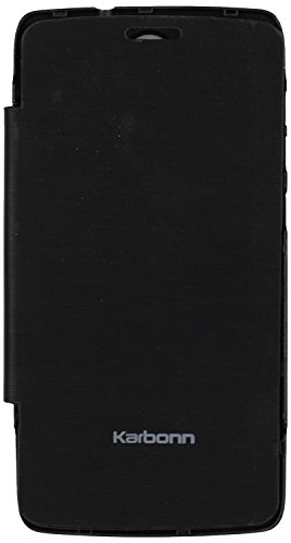 iCandy™ Synthetic Leather Flip Cover For Karbonn A27+ - BLACK  available at amazon for Rs.170
