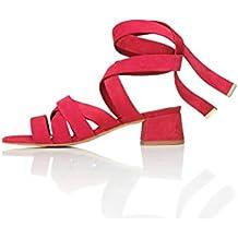 Find Sandalias de Tiras Atadas al Tobillo Mujer