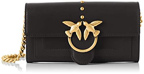 Pinko houston wallet, portafoglio donna, nero (nero limousine), 3x12x19 cm (w x h x l)