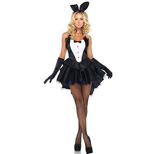 FHSIANN Bunny Girl Rabbit Kostüme Frauen Cosplay Sexy Halloween Adult Animal Kostüm Phantasie D (Kostüm D'animaux)